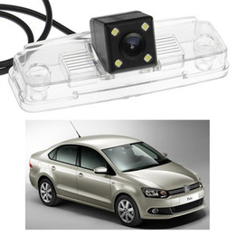 rear view camera ccd vw 2019 - New 4 LED Car Rear View Camera Reverse Backup CCD fit for VW Polo Saloon 2011-2014 12 13