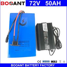 BOOANT E-Bike Bateria 72 V 50AH 3000 W Bateria de Bicicleta Elétrica 18650 celular 72 V 50AH com 84 V 5A Carregador 50A BMS UE EUA Dever Livre venda por atacado