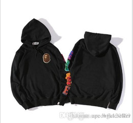 1e0017f37ecc fashion Shark Hoodie Men Women Harajuku Cool fun Cartoon Sweater Jacket WGM  Full Zip Hoodie Fleece Cardigan Sweatshirt Coats