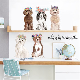 Wholesale Copper Kitchen Australia - Wholesale 150*60cm Fancy of Dogs Wall Stickers Wallpaper Paper Peint 3d Home Decor Bathroom Kitchen Accessories Household Suppllies