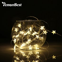 2 3m string led lights decoration fairy light battery operated waterproof star copper wire lamp indoor outdoor christmas wedding - Outdoor Christmas Decorations Wire