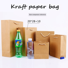 $enCountryForm.capitalKeyWord UK - 20*28cm+10cm Portable Thicken solid Kraft paper Custom-made clothing gift shopping package Takeaway Corporate advertising Standing bag