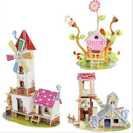 $enCountryForm.capitalKeyWord Canada - 1 set kawaii 3D DIY Puzzle Houses Puzzle Jigsaw Baby toy Kid Early learning Castle Construction pattern gift 21*14*1cm
