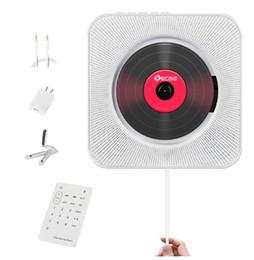 Lecteur CD Montage Mural Bluetooth Portable Audio Boombox avec Télécommande Radio FM Intégré HiFi Haut-parleurs USB MP3