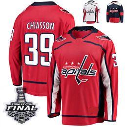 numbers shirt 2019 - 2018 Stanley Cup Final Washington Capitals Alex Chiasson Hockey Jerseys 39 Alex Chiasson Stitched Jersey Custom name num