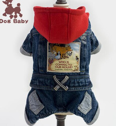 Red Riding hood clothes online shopping - Pet dog clothing clothing Teddy Little Red Riding Hood four leg jeans