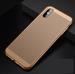 $enCountryForm.capitalKeyWord Canada - Full Cover Matte Slim Hard PC Mesh Breathing Case for iPhone X XS XR XS MAX Galaxy S10 S10 PLUS S10E Grid Hollow Out Shell 300PCS LOT