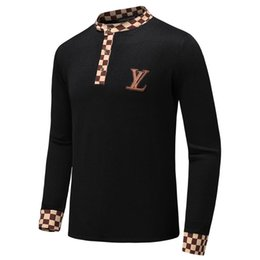 Wholesale new best selling high end casual fashion round neck men s polo sweater brand cotton pullover men s sweater A9