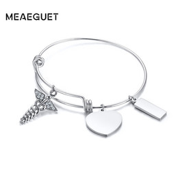 $enCountryForm.capitalKeyWord UK - Expandable Bracelets Silver Ancient With Zirconia Medical Symbol Snake Wings Charm Adjustable Wire Wrap Cuff Bangle Women