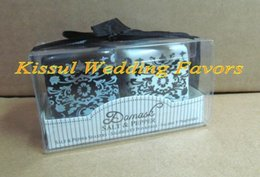 $enCountryForm.capitalKeyWord NZ - 2Pcs lot=1box=1set Wedding decoration gift of Damask Ceramic Salt and Pepper Shakers Wedding Favors For giveaways