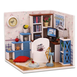$enCountryForm.capitalKeyWord Canada - Miniatures Home Assembling Warm Doll House Gift 3D DIY Combination Dream Home Building Model Kit With Furniture Decor M-003