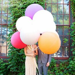 36 inches helium balloons 2019 - High Quality 36 Inches Balloon Helium Inflable Giant Latex Balloons For Wedding Birthday Party Decoration 012 cheap 36 i