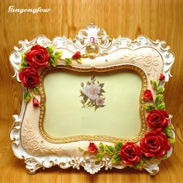 $enCountryForm.capitalKeyWord NZ - Pretty Rose Picture Frame Cake Mold Silicone Mold Chocolate Gypsum Candle Soap Candy Mold Free Shipping