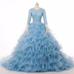 $enCountryForm.capitalKeyWord Australia - long tail Luxury Big Wedding Dress Vernassa Ruffles Wedding Dresses Mariage Plus Size Cathedral Train Bridal Gowns 2018