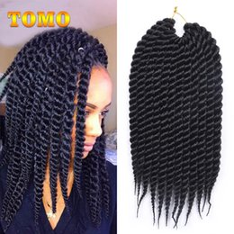 Yellow Hair Extensions Australia - TOMO Senegalese Twist Braiding Hair Extensions Ombre Crochet Kanekalon Synthetic Hair Braided Hair Bluk For Black White Women 12 roots pack