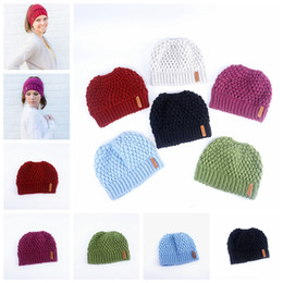 a678ebe2101 Warm hat Beanie Hats Labeling Wool Knitting Caps Skull Hat Outdoor Sports  Caps Winter ladies' Horsetail cap GGA1290