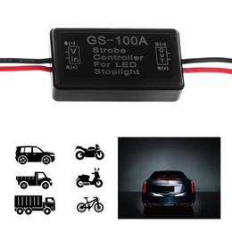 Led strobe headLights online shopping - 1Pc New Arrivals GS A Car LED Brake Stop Light Lamp Flasher Module Flash Strobe Controller New
