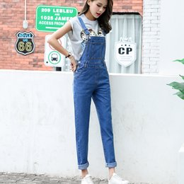 $enCountryForm.capitalKeyWord Canada - S-L 2018 rompers womens jumpsuit loose Long Trousers blue Denim Pants jeans womens overalls for womens (B1285)