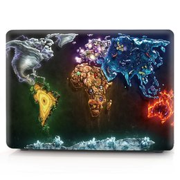 Macbook Retina 13 Inches Australia - Map-6 Oil painting Case for Apple Macbook Air 11 13 Pro Retina 12 13 15 inch Touch Bar 13 15 Laptop Cover Shell