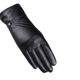 cbaeb7e30500 250PAIRS LOT Fashion Women Winter Gloves Synthetic Leather Luxury Warm Lady  Gloves Windproof Driving Mittens