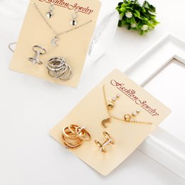 Crystal Moon Pandats Silver Gold Hoops Knuckle Rings Sets Statement  Necklaces  Fashion Earrings Studs Women Choker Wedding Jewelry Sets e1b01386e0e6