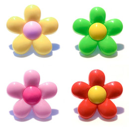 Kids Flower Brooch NZ - 20+ Beautiful Flowers Bright Color PVC Badges Brooches Button Clothes Bag Shoes Packed by Gift Bag Decor Kid Party Gift Accessory Badges