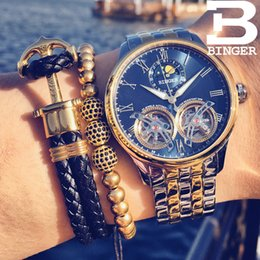 $enCountryForm.capitalKeyWord Australia - Switzerland BINGER Luxury Moon Phase Automatic Watch Men Double Mens Skeleton Mechanical Watches Men Brand Relogio