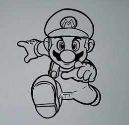 Wholesale Removable Wallpaper for kids room decor Retro Video Game Hero Vinyl Decal Super Mario Wall Sticker