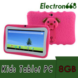 "kids android tablets wholesale UK - 2018 Hot Kids Brand Tablet PC 7"" Quad Core children tablet Android 4.4 Allwinner A33 google player wifi big speaker protective cover 10pcs"