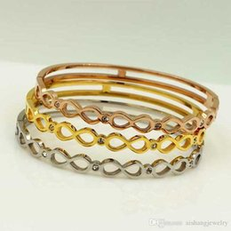 $enCountryForm.capitalKeyWord NZ - PB86 new fashion number 8 style with stones beautiful for lady bangle gold plate free shipping