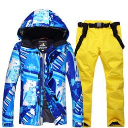 Warm Waterproof Pants Men Australia - NEW Skiing set Snowboarding sets Men jackets + pants Very Warm Windproof Waterproof Snow suit outdoor Winter Clothes