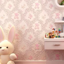 $enCountryForm.capitalKeyWord Australia - Wall Paper Self-adhesive Bedroom Warm Girl Romantic Pink College Dormitory Decor Wall Stickers For Kids Room Cartoon Wallpapers