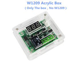 temperature switches thermostats NZ - W1209 DC12V Cool Temp Thermostat Temperature Control Switch Temperature Controller Acrylic Box (Only the Box ,No with Board !!!)