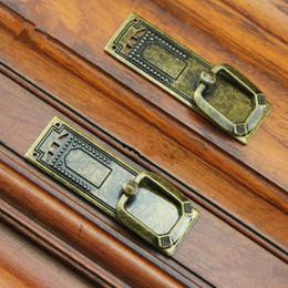 "Handle 64mm NZ - 64mm vintage style drop rings furniture handles bronze drawer shoe cabinet knobs pulls 2.5"" antique brass dresser door handles"