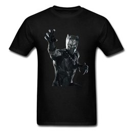$enCountryForm.capitalKeyWord NZ - 2018 New Black Panther T-shirt Men 3D Character Printed Tops Cotton Clothes Crew T-Shirt Men Short Sleeve T shirt