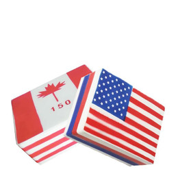 AmericAn toys online shopping - Slow Rising Squishies Toys Scented Squeeze Toy American Canada Flag For Collection Squishy Stress Relief Gift oh WW