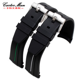 Wholesale Hight quality for brand rubber watch band straps with stainless steel buckle mm mm waterproof sports men s watchband