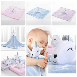 SpringS Security online shopping - 3styles cm unicorn Blanket infant Swaddling kids bath towel cartoon sleeping blanket children toy Plush Security carpet FFA1142