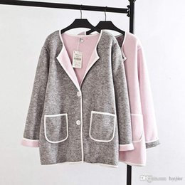 f3a752d7861 Wholesale-T1 Autumn Casual Women Cardigans Plus Size Woman Clothes Long  Sleeve Double-layer composite camel hair knit Fashion Sweater Coat