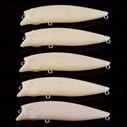 Опт 100шт пустой жесткий неокрашенный рыболовные приманки Crankbait Поппер воблеры приманки 9.6 г / 9 см