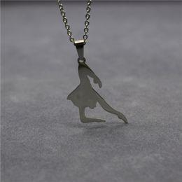 $enCountryForm.capitalKeyWord NZ - Elfin New Stainless Steel Latin Dance Necklace Dancing Jewellery Ballet Dancer Pendant Necklace Women