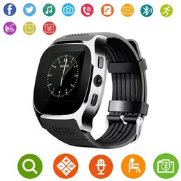 $enCountryForm.capitalKeyWord Australia - 2018 For Android New T8 Bluetooth Smart Pedometer Watches Support SIM &TF Card With Camera Sync Call Message Men Women Smartwatch Watch