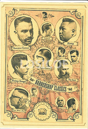 "$enCountryForm.capitalKeyWord NZ - ""BARBERSHOP GLASSIC"" Retro Kraft Paper Hairdressing Hairstyle Poster Wall Sticker Painting Tattoo Studio Barber Shop Decoration"