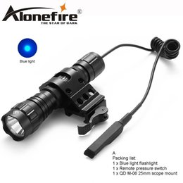 $enCountryForm.capitalKeyWord NZ - AloneFire CREE 501Bs blue flash LED tactical flashlight LED torch chandelier camping lights hunting searchlight for 1x18650 battery