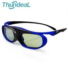 f1f87a423 Thundeal DLP Projetor Óculos 3D Bateria Do Obturador Ativo Universal  96-144Hz Para Optoma BenQ Acer Viewsonic Óculos JMGO XGIMI 3D