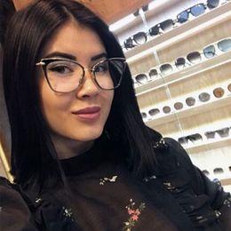 $enCountryForm.capitalKeyWord NZ - CCSPACE Ladies Cat Eye Glasses Frames For Women Red White Optical EyeGlasses Fashion Prescription Eyewear Computer Glasses 45369