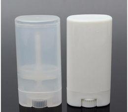 $enCountryForm.capitalKeyWord Australia - FREE SHIPPING 1000 pcs lot 15ml Plastic Empty Oval Lip Balm Tubes Deodorant Containers Clear White Lipstick Fashion Cool Lip Tubes