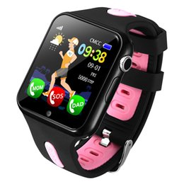 Vente en gros Espanson V5 enfants GPS Smart Watch avec caméra Facebook sécurité d'urgence Anti Lost SOS pour ISO Android bébé étanche montre
