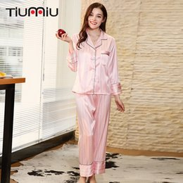 3e3f1680a1 Pink Kawaii Women Pajama Set Champagne High Quality Ladies V-neck Sleepwear  Home Nightclothes Female SleepWear Night Shirt+Pants