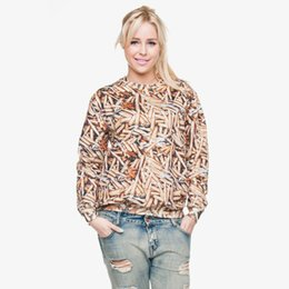 Chinese  Women Sweatshirt Bullets 3D Full Print Girl Free Size Stretchy Casual Hoodies Lady Long Sleeves Tops Digital Graphic Sweatshirts (GL29782) manufacturers